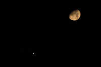 Junction of Jupiter and the Moon