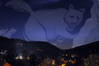 Ursa Major over Bad Herrenalb (constellation)